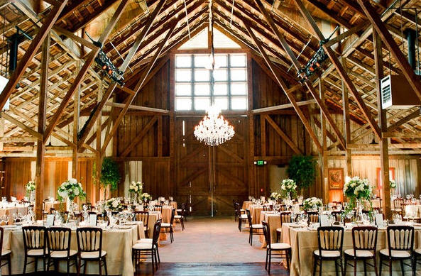 Rustic Elegant Barn Weddings Events Photo from StyleMePrettycom