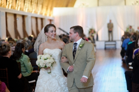 Winston Salem NC Barn Wedding Ceremony - Sarah and Michael