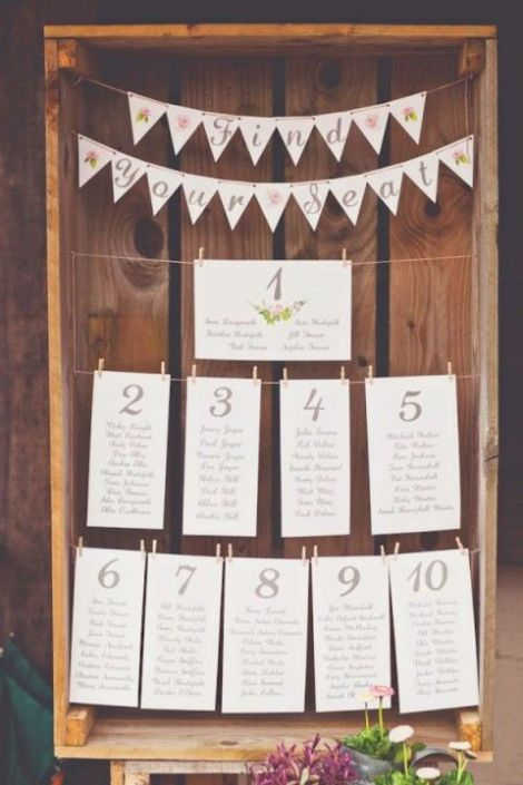 Wooden crate seating chart